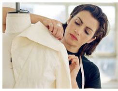 Fine alterations, clothing repair, and couture fittings by experienced seamstress at Parkway Drycleaning.