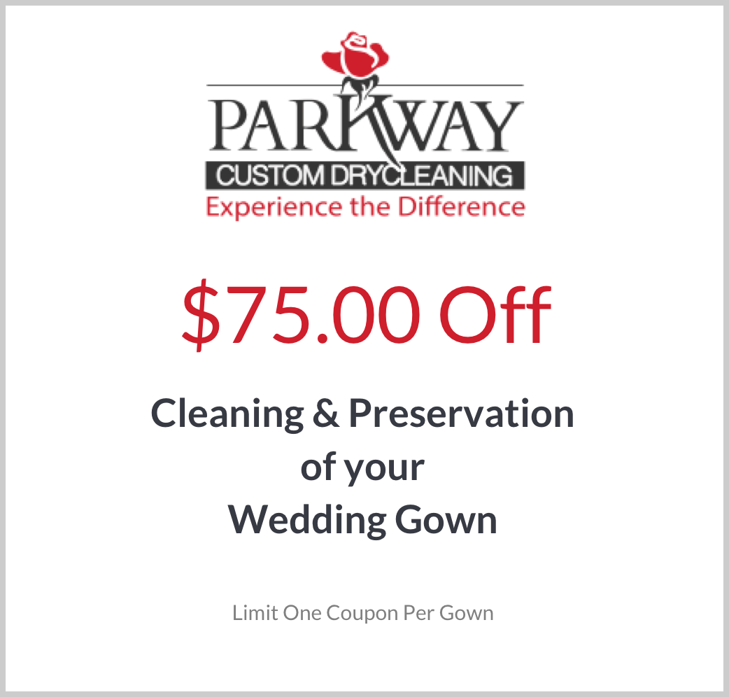 Wedding Gown Cleaning Special Offer Coupon